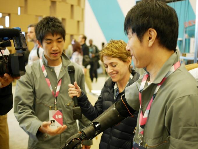 サンフランシスコで開催された「Google I/O 2015」での近藤さんと森川さん