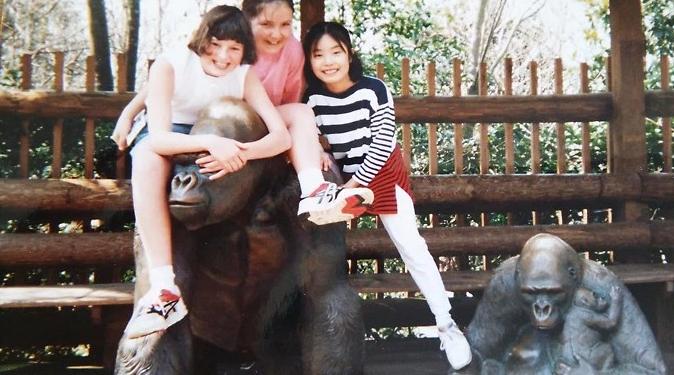 中学に入学前、アメリカに親子留学。