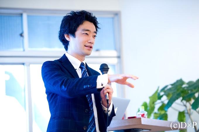 【写真】講演で堂々と話すいまいのりあきさん