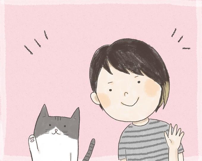 ますぶちみなこさんと愛猫のりまき