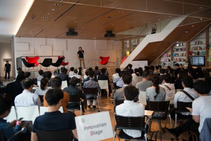 「しんびじ」では、参加者に沼田さんの熱い思いが語られる photo by  EIJI