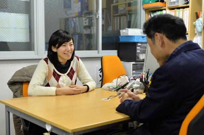 代表の川口加奈さん。ホームレスの方を、親しみをこめて「おっちゃん」と呼ぶのだそう