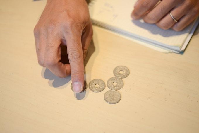 古市さんはその時おばあさんにもらった古銭を今も大切にしまっています。
