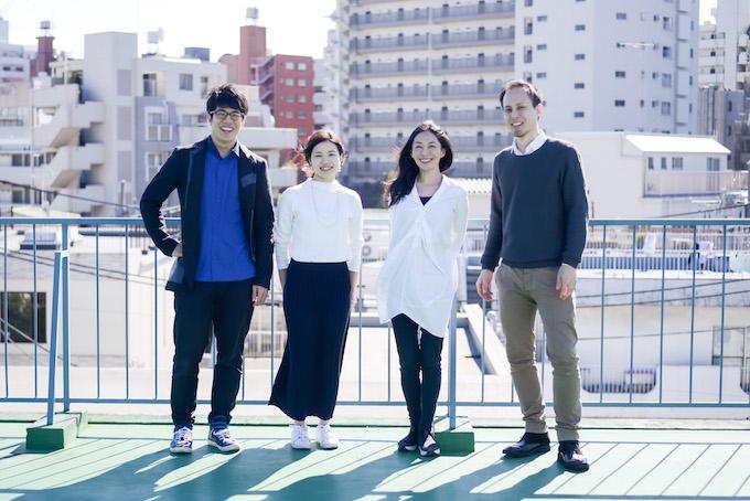 左から荒井佑介さん、青木翔子さん、小澤いぶきさん、斎典道さん