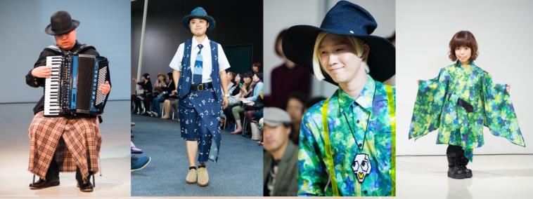 【写真】tenboのファッションショーの様子。モデルにはトランスジェンダーのはままつこうさんも。