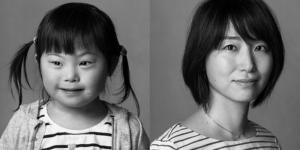 【写真】凛とした表情を見せる母と可愛らしく写る娘。