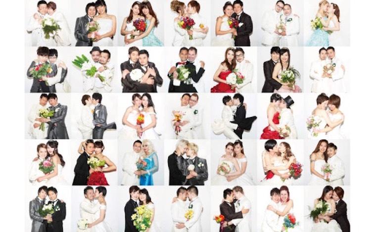【写真】数々のカップルの写真がずらりと並ぶ。どの写真からも幸せな雰囲気が漂う。
