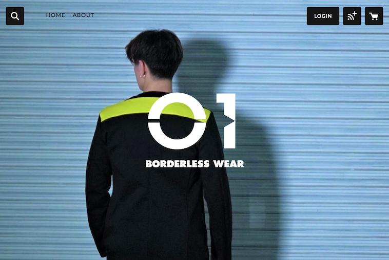 【写真】ウェアブランド「01」の服を着て佇むモデル
