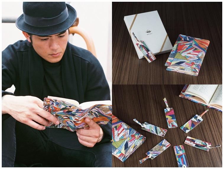 【写真】ムクのブックカバーをつけて本を読む男性。印象的なブックカバーに思わず目が行きます。