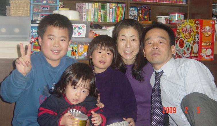 2009年2月5日のきもとさん一家はみんな笑顔である