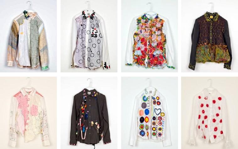【写真】様々な柄のシャツがずらりと並ぶ。どれも創造的で見る人を楽しませる。
