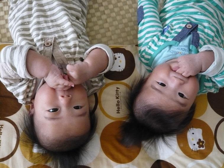 【写真】なかはらみちこさんの双子の息子の幼少期の頃の写真