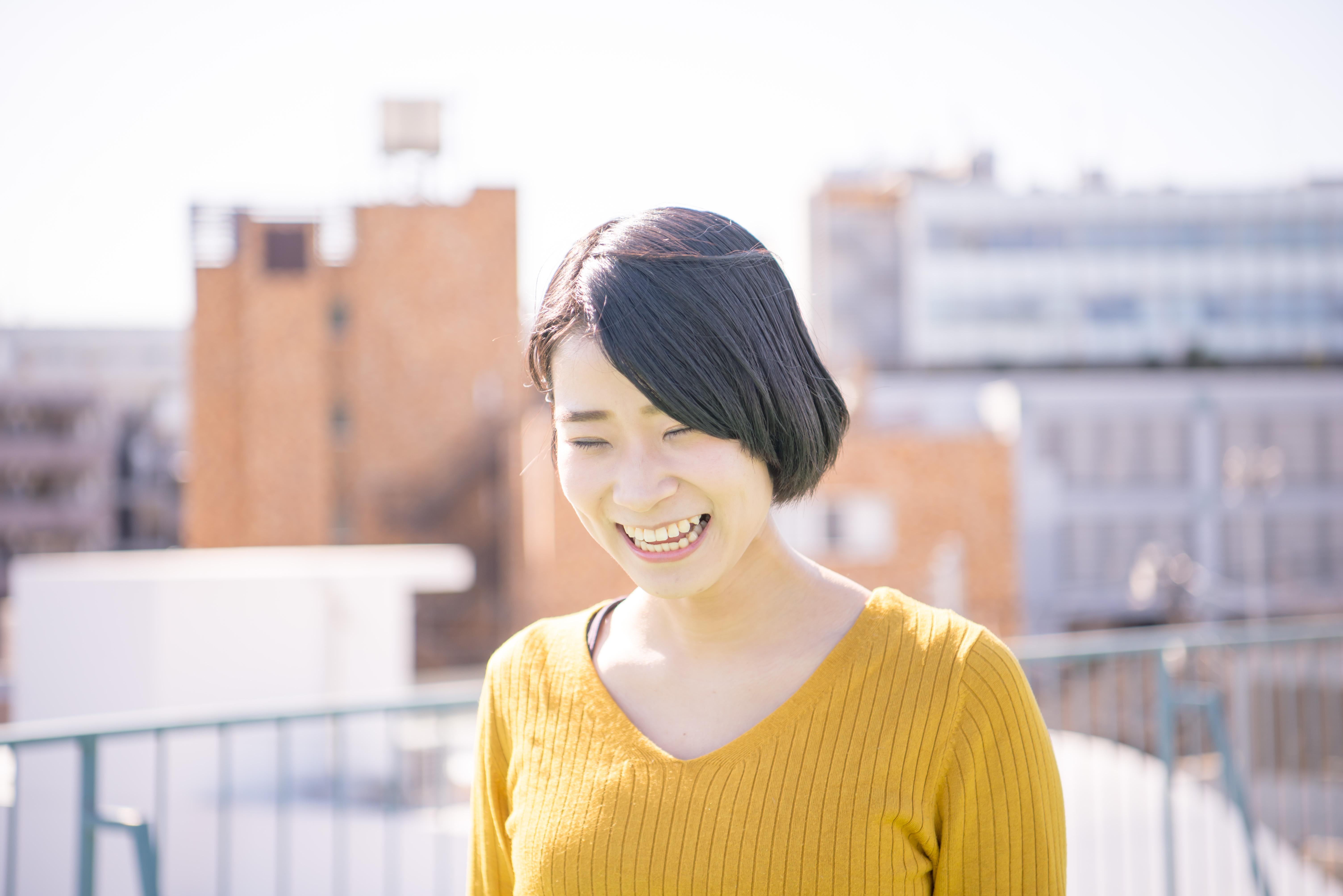 【写真】溢れるような笑顔を見せるきくかわさん