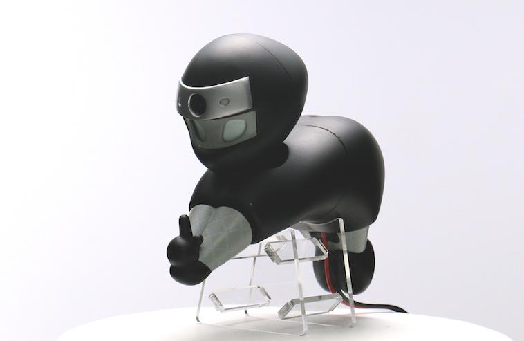 【写真】ディスプレイされる忍者ロボットニンニン