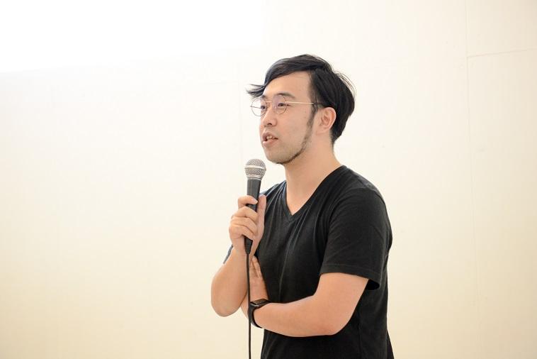 【写真】今回のイベント開催への想いについて、参加者に語るもり