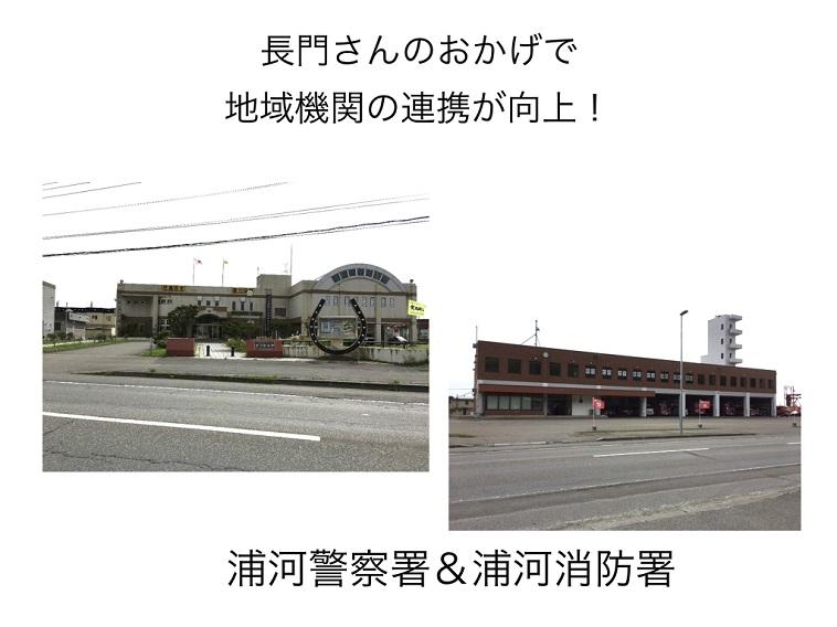 【写真】浦河警察署と浦河消防署の外観写真