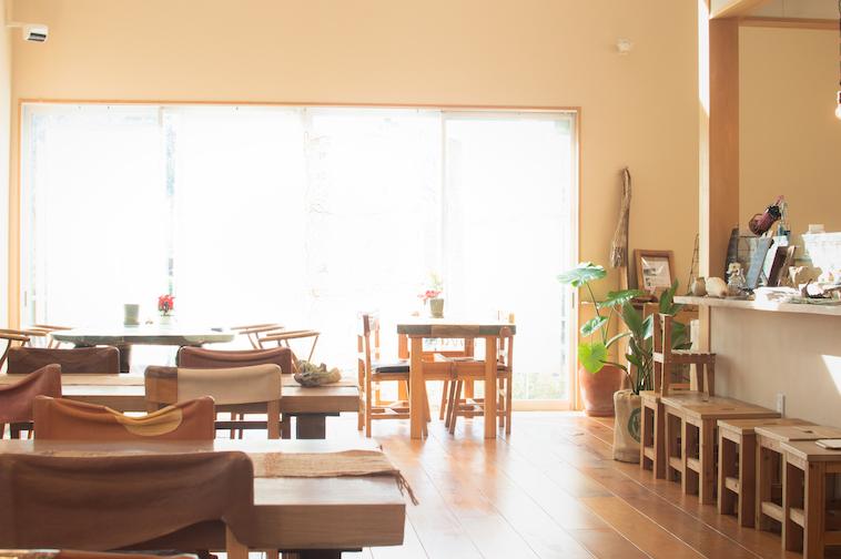 【写真】木の温もりが感じられる椅子やフローリングに、明るい日差しが差し込んで穏やかな雰囲気の店内