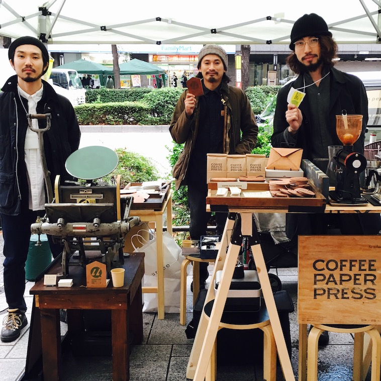 【写真】COFFEE PAPER PRESSのイベント出展ではコーヒーの販売や、その場で活版印刷体験もできる