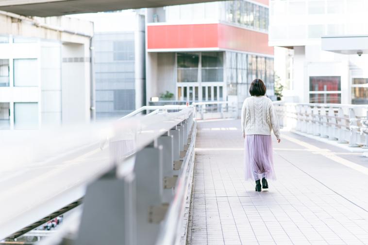 【写真】ゆっくりと歩いているあみさん
