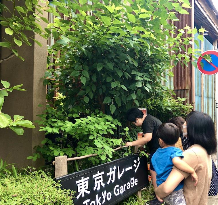 【写真】緑に囲まれた東京ガレージ