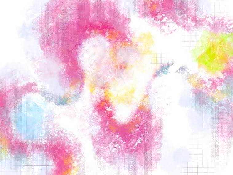 【イラスト】ピンクと白、黄色の絵具が入り混じったようなイラスト